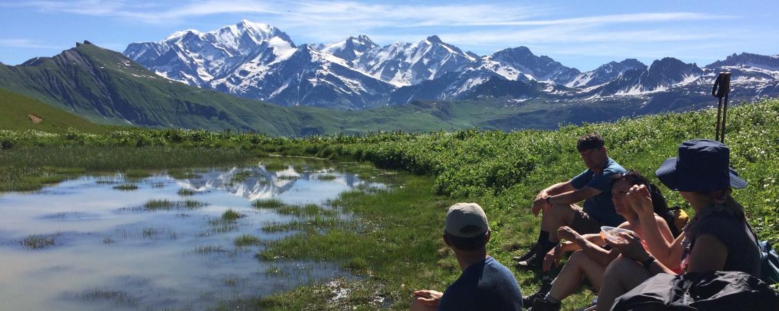 Face au Mont Blanc en ce début d'été torride...