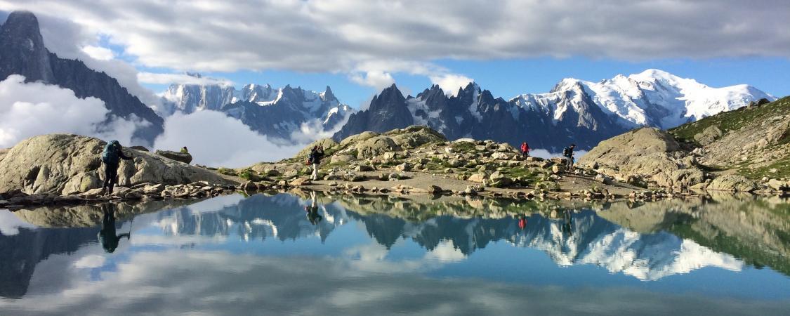 Reflets irréels sur le Lac Blanc (photo : M.De Vlaminck)